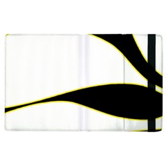 Yellow, Black And White Apple Ipad 3/4 Flip Case by Valentinaart