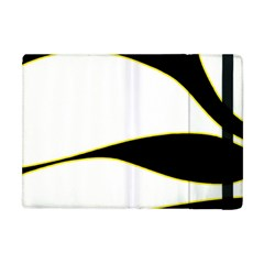 Yellow, Black And White Apple Ipad Mini Flip Case by Valentinaart
