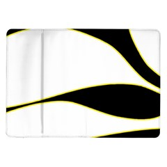 Yellow, Black And White Samsung Galaxy Tab 10 1  P7500 Flip Case by Valentinaart