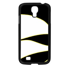 Yellow, Black And White Samsung Galaxy S4 I9500/ I9505 Case (black) by Valentinaart