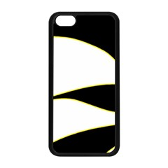 Yellow, Black And White Apple Iphone 5c Seamless Case (black) by Valentinaart