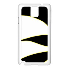 Yellow, Black And White Samsung Galaxy Note 3 N9005 Case (white) by Valentinaart