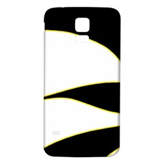Yellow, Black And White Samsung Galaxy S5 Back Case (white) by Valentinaart