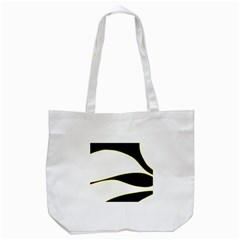 Yellow, Black And White Tote Bag (white) by Valentinaart