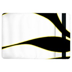 Yellow, Black And White Ipad Air 2 Flip by Valentinaart