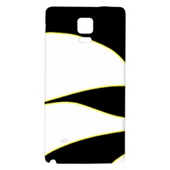 Yellow, Black And White Galaxy Note 4 Back Case by Valentinaart