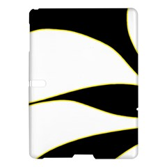 Yellow, Black And White Samsung Galaxy Tab S (10 5 ) Hardshell Case  by Valentinaart