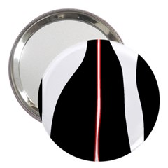 White, Red And Black 3  Handbag Mirrors by Valentinaart