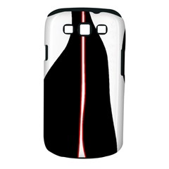 White, Red And Black Samsung Galaxy S Iii Classic Hardshell Case (pc+silicone) by Valentinaart