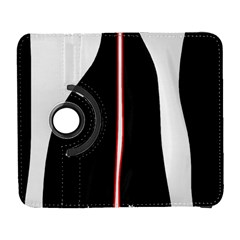 White, Red And Black Samsung Galaxy S  Iii Flip 360 Case by Valentinaart