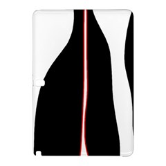 White, Red And Black Samsung Galaxy Tab Pro 10 1 Hardshell Case by Valentinaart