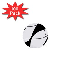 White And Black Shadow 1  Mini Buttons (100 Pack)  by Valentinaart