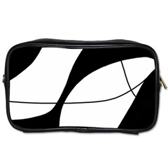 White And Black Shadow Toiletries Bags 2 Side by Valentinaart