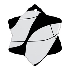 White And Black Shadow Snowflake Ornament (2 Side) by Valentinaart