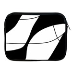 White and black shadow Apple iPad 2/3/4 Zipper Cases Front