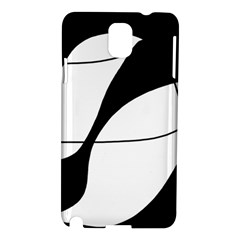 White And Black Shadow Samsung Galaxy Note 3 N9005 Hardshell Case by Valentinaart