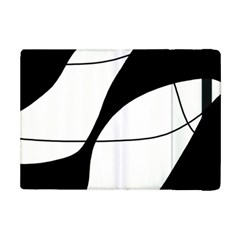 White And Black Shadow Ipad Mini 2 Flip Cases by Valentinaart