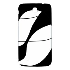 White And Black Shadow Samsung Galaxy Mega I9200 Hardshell Back Case by Valentinaart