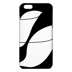 White And Black Shadow Iphone 6 Plus/6s Plus Tpu Case by Valentinaart
