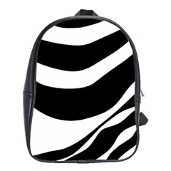 White Or Black School Bags(large)  by Valentinaart