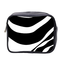 White Or Black Mini Toiletries Bag 2 Side by Valentinaart