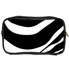 White Or Black Toiletries Bags 2 Side by Valentinaart