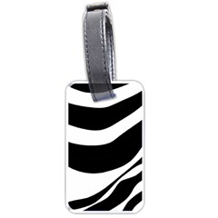 White Or Black Luggage Tags (one Side)
