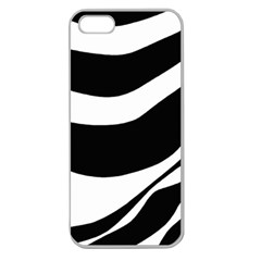 White Or Black Apple Seamless Iphone 5 Case (clear) by Valentinaart