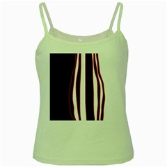 White, Red And Black Lines Green Spaghetti Tank by Valentinaart