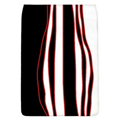 White, Red And Black Lines Flap Covers (l)  by Valentinaart