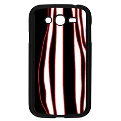 White, Red And Black Lines Samsung Galaxy Grand Duos I9082 Case (black) by Valentinaart