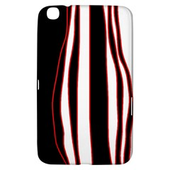 White, Red And Black Lines Samsung Galaxy Tab 3 (8 ) T3100 Hardshell Case  by Valentinaart