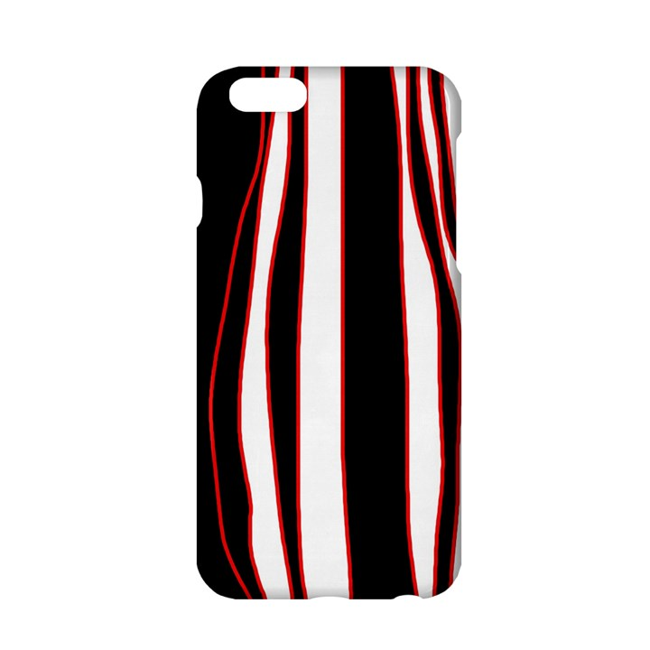 White, red and black lines Apple iPhone 6/6S Hardshell Case