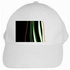Colorful Lines Harmony White Cap by Valentinaart