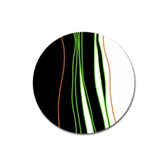 Colorful Lines Harmony Magnet 3  (round)