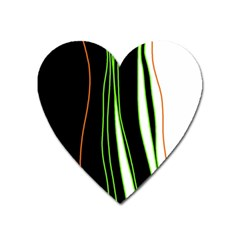 Colorful Lines Harmony Heart Magnet by Valentinaart