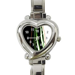 Colorful Lines Harmony Heart Italian Charm Watch by Valentinaart