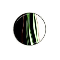 Colorful Lines Harmony Hat Clip Ball Marker (4 Pack) by Valentinaart