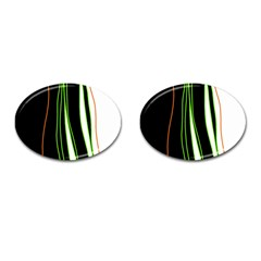 Colorful Lines Harmony Cufflinks (oval) by Valentinaart
