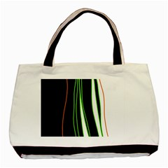 Colorful Lines Harmony Basic Tote Bag by Valentinaart
