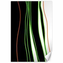 Colorful Lines Harmony Canvas 12  X 18   by Valentinaart