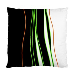 Colorful Lines Harmony Standard Cushion Case (one Side) by Valentinaart