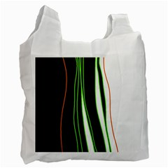 Colorful Lines Harmony Recycle Bag (two Side)  by Valentinaart