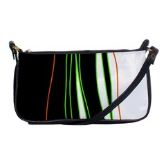 Colorful Lines Harmony Shoulder Clutch Bags by Valentinaart