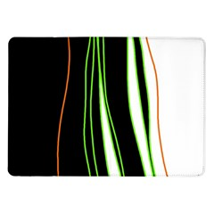 Colorful Lines Harmony Samsung Galaxy Tab 10 1  P7500 Flip Case by Valentinaart