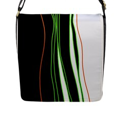Colorful Lines Harmony Flap Messenger Bag (l)  by Valentinaart