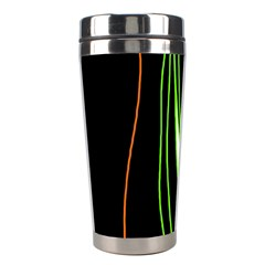 Colorful Lines Harmony Stainless Steel Travel Tumblers by Valentinaart