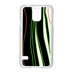 Colorful Lines Harmony Samsung Galaxy S5 Case (white)