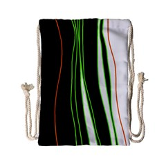 Colorful Lines Harmony Drawstring Bag (small) by Valentinaart