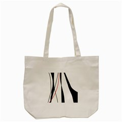 Red, White And Black Elegant Design Tote Bag (cream) by Valentinaart